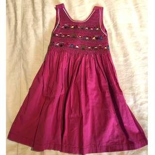Kids Dress in Pink and Hand Embroidery size 4 years old