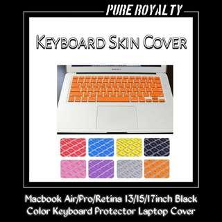 Macbook Air/Pro/Retina 13/15/17inch Black Color Keyboard Protector Laptop Cover