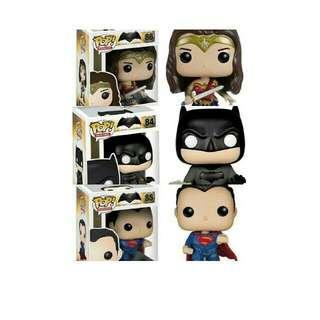 Funko Pop Heroes Batman V Superman Wonder Woman Set