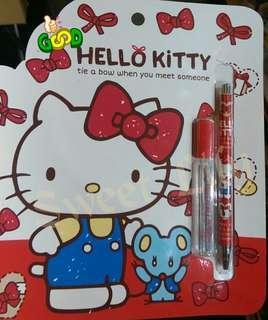 🚚 Hello Kitty 凱蒂貓 文具組 三麗鷗文書收納 自動鉛筆+筆芯文具組合 送禮自用收藏特價$59/1組  🔥 HELLO KITTY 自動鉛筆文具組 🔥學生的夢幻文具😍😍  CP值破表❗可愛又實用💕 收藏也非常值得💗 💥💥現貨最後三組,一起帶走更划算👍👍 💗歡迎先私訊聊聊唷😘🤗🤗🤗