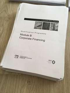 QP HKICPA BPP learning pack module B Corporate Financing