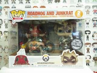Funko Pop Overwatch Roadhog & Junkrat Blizzard Exclusive Vinyl Figure Collectible Toy Gift