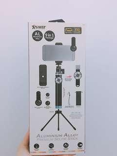 Xpower selfie stick with bluetooth remote 魚眼 廣角 鏡頭 藍牙自拍神棍