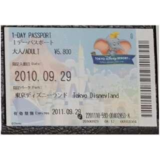 (1K) ONE DAY PASSPORT - TOKYO DISNEY, $18 包郵