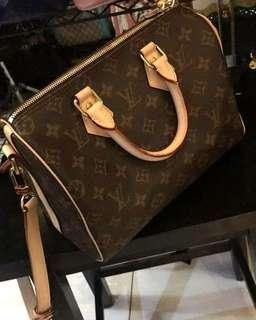 AUTHENTIC QUALITY LV MONOGRAM SPEEDY BANDOULIERE 25