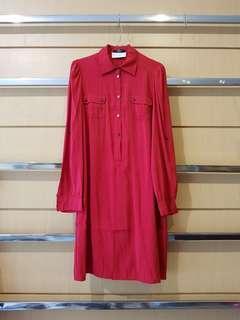 ESPRIT Red Buttoned Shirt Dress