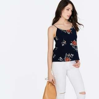 🚚 TCL's Darla Two Way Printed Top in Navy (SAVE $14.90)