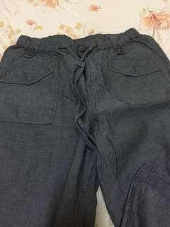 🚚 寬版長褲/M可/腰彈性
