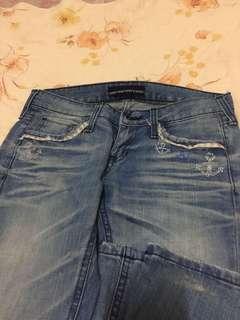 🚚 牛仔低腰喇叭褲/黑色老爺褲/2件ㄧ起/尺:26