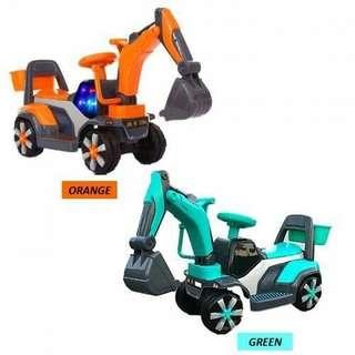 Kids ride on excavator toy
