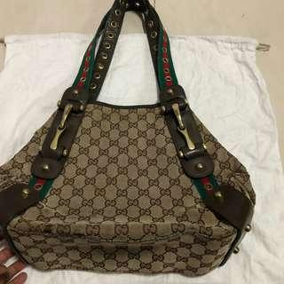 Gucci canvas monogram tote