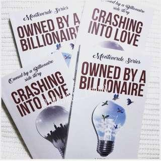 Owned by a Billionaire/ Crashing into love by Patyeah