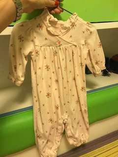 GYMBOREE 品牌淺粉紅色碎花長袖夾衣 這秋季一流 質地非常好