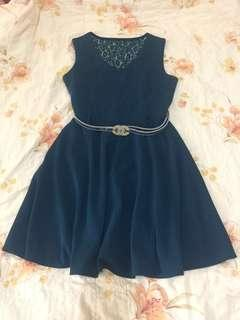 🚚 錠藍色洋裝/S