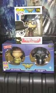 Diana Prince & Wonder Woman and Ares Dorbz 2-pack DC Funko Pop Bundle