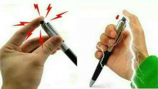 Pulpen setrum/pena listrik elektrik gag prank