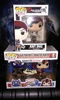 Kait Diaz Gears of War & Black Panther Marvel vs Monster Hunter 2-pack Marvel Funko Pop Bundle