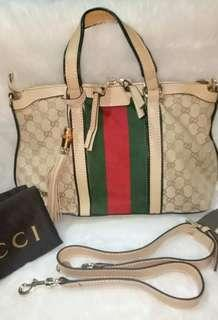 AUTHENTIC QUALITY GUCCI BAMBOO TASSEL 2 WAY BAG