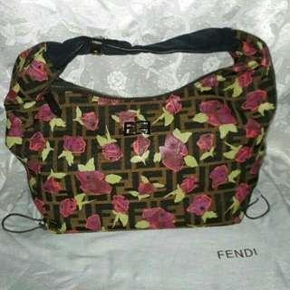 AUTHENTIC QUALITY FENDI ROSE PRINT CHEF ZUCCA HOBO BAG