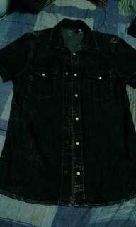 Divided by H&M Slim fit snap button shirt