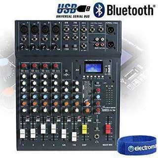 Studiomaster CLUB XS 8 Channel Bluetooth USB Mixer
