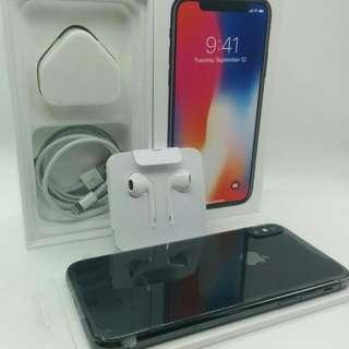 New Set Condition Apple iPhone X Space Grey  All Original Accessories Full Complete  MHSEP