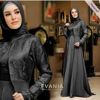 Pre order Evania maxi dress long sleeve Muslimah glitter black blue grey nude