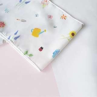 Scarf rectangle twilly watercolor garden bunga