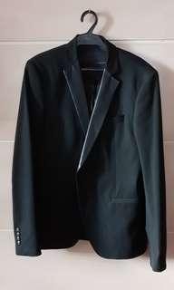 Zara Man Black Tag Suit Size 40 USA