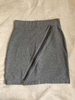 H&M grey zip skirt