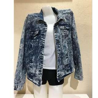 Ashley Stewart Denim Jacket Acid Washed Plus Size 3XL Asian