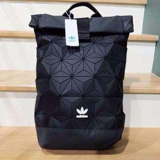 FREE POSTAGE + FREE GIFT!! Adidas 3D Backpack x Issey Miyake | TRIPLE BLACK LIMITED