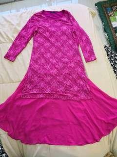 Baju Kurung Moden Lace ( Size M )