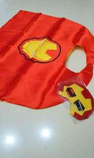 Brand New Iron Man Sheen Cape and Felt Mask For Kids