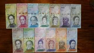 Venezuela 2-100,000 Bolivares 13pcs full set