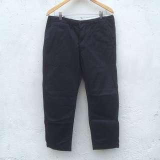 Longpants Chinos Uniqlo Navy Ankle