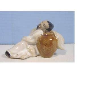 Vintage ceramic bonsai mudman famous Chinese drunken poet Li Bai 1950s retired 3