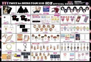 Twice (Japan) - BDZ 1st Arena Tour Goods