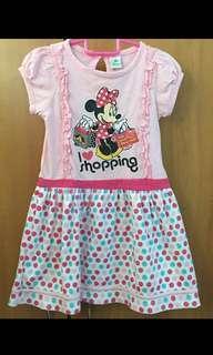 Disney Miney Mouse polka dot dress pink