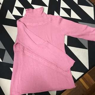 WINTER TIME SWEATSHIRT FOR WINTER IN PINK STRETCHABLE
