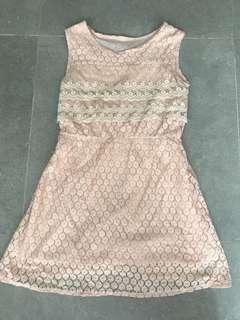 Pink 連身dress