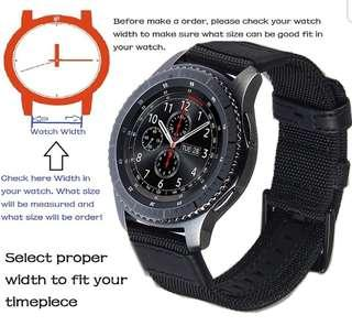 Instock Leather Canvas Samsung S3 Frontier Strap