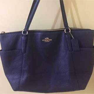 Coach Navy Blue Bag