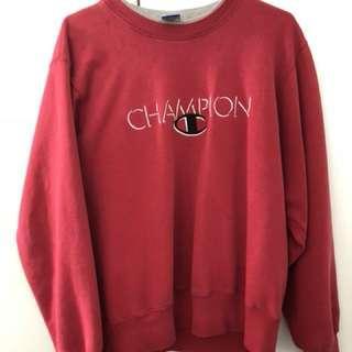 Champion red jumper