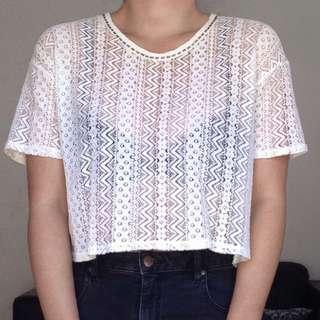 Vintage Lace Cropped Top