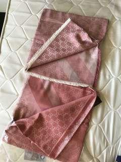 Gucci 羊毛圍巾 鮭魚粉/乾燥玫瑰粉🔥保證真品