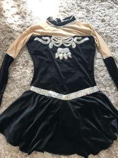 Black Beaded Figure skating/halloween costume