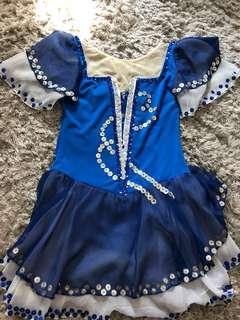 Blue beaded figure skating/ halloween dress