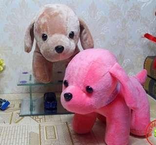 BNIP Pink Dog Soft Toy Stuffed Plush