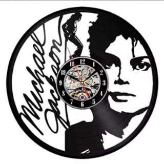 MJ黑膠唱片掛鐘